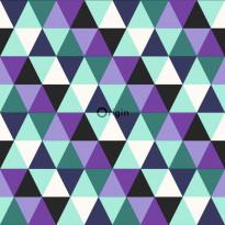 Tapetti Urban Funky 347204, 0.53x10.05m, turkoosi/violetti