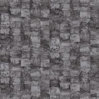 Tapetti Raw Elegance 347357, 0.53x10.05m, tummanharmaa/ruskea/kiiltävä