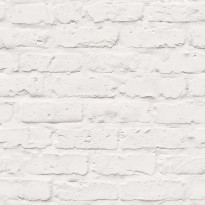 Tapetti Natural Forest White Brick NF3504, 0,53x10,05m, valkoinen