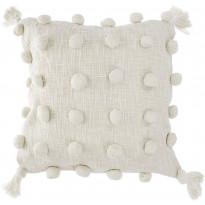 Tyynynpäällinen AmandaB Collection Boho Bobble, 50x50cm, vaalea