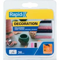 Liima Rapid Glitter 7mm 36kpl, musta/pinkki/valkoinen