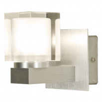 Seinävalaisin Acate, harjattu alumiini/lasi