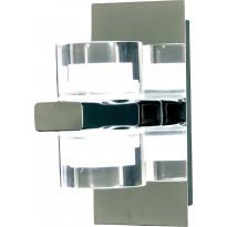 LED-seinävalaisin Aneta Vetro, IP44 130x80x160 mm, kromi, kirkas akryyli