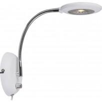 LED-seinävalaisin Aneta Moto, 130x360x300 mm, valkoinen, kromi