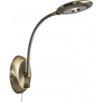 LED-seinävalaisin Aneta Moto, 130x360x300 mm, antiikkimessinki