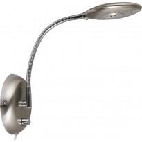 LED-seinävalaisin Aneta Moto, 130x360x300 mm, satiiniteräs, kromi