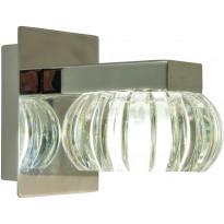 LED-seinävalaisin Aneta Sorrento, IP44, kirkas/kromi