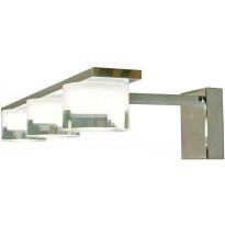 LED-peilivalaisin Aneta Vetro, 3-osainen, IP44, kromi/kirkas