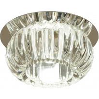 LED-alasvalo Aneta Sorrento, IP44 Ø 100x85 mm, upotettava kirkas lasi, kromi