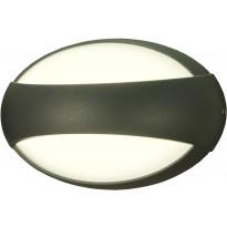 LED-ulkoseinävalaisin Aneta Bro, IP54, tummanharmaa
