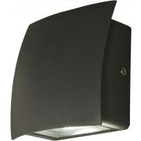 LED-ulkoseinävalaisin Aneta Flip, alasvalo, IP54, tummanharmaa