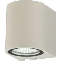 LED-ulkoseinävalaisin Aneta Union, 3W, IP54, alasvalo, valkoinen