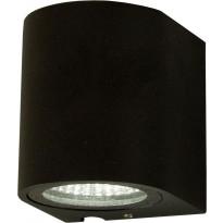 LED-ulkoseinävalaisin Aneta Union, 3W, IP54, alasvalo, musta