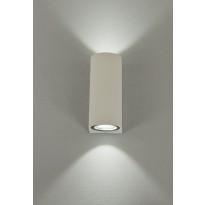 LED-ulkoseinävalaisin Aneta Union, 2x3W, IP54, ylös-alasvalo, valkoinen