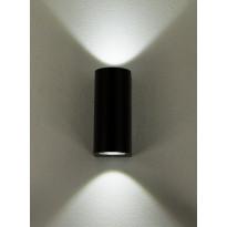 LED-ulkoseinävalaisin Aneta Union, 2x3W, IP54, ylös-alasvalo, musta
