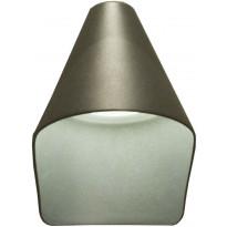 LED-ulkoseinävalaisin Aneta Hood, alasvalo, IP44, tummanharmaa