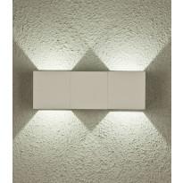LED-ulkoseinävalaisin Aneta Twin, IP54, ylös-alasvalo, valkoinen
