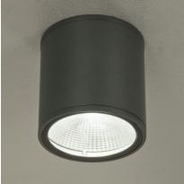 LED-ulkokattovalaisin Aneta Cyklo, IP54, alasvalo, tummanharmaa