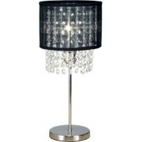 Pöytävalaisin Scan Lamps Vendela, Ø 160x355 mm, kromi, musta