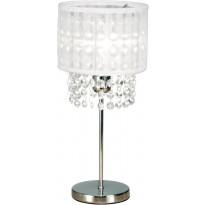 Pöytävalaisin Scan Lamps Vendela, Ø 160x355 mm, kromi, valkoinen