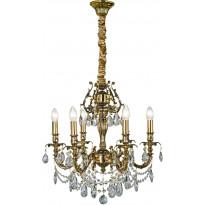Kattokruunu Aneta Versailles, 6-osainen, K9-kristalli, kulta, Verkkokaupan poistotuote