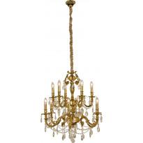 Kattokruunu Aneta Versailles, 12-osainen, K9-kristalli, kulta