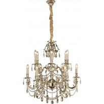 Kattokruunu Aneta Versailles, 12-osainen, K9-kristalli, antiikkihopea