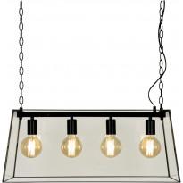 Kattovalaisin Aneta Diplomat, 72x30cm, musta/kirkas, Verkkokaupan poistotuote