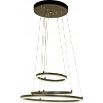 LED-kattovalaisin Aneta Circles, 52W, 4680lm, himmennettävä, musta