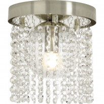 Kristalliplafondi Aneta Claudia, Ø20cm, IP44, kromi/kirkas