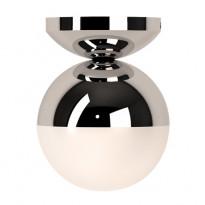 Seinä-/kattovalaisin Mineo, kromi/valkoinen lasi
