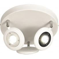 LED-kattospotti Aneta Moto, Ø 330x200 mm, valkoinen