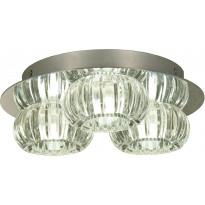 LED-kattovalaisin Aneta Sorrento, 3-osainen, IP44, kirkas/kromi