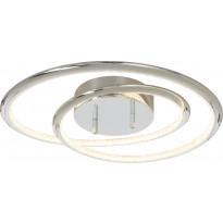 LED-plafondi Aneta Aries, kromi/valkoinen