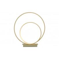 LED-pöytävalaisin Aneta Loop, 14W, Ø350x375mm, IP20, champange