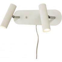 LED-seinävalaisin Scan Lamps Artic, 2-osainen, 3000K, valkoinen