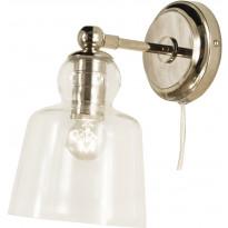 Seinävalaisin Scan Lamps Figaro, hopea/kirkas
