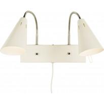 Seinävalaisin Scan Lamps Eva, 2-osainen, valkoinen/kromi