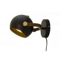 Seinävalaisin Scan Lamps Bow, 7W, Ø185x140mm, IP20, GU10, musta