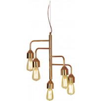 Riippuvalaisin Scan Lamps Flynn, 420x420x470 mm, 5-osainen kupari