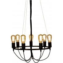 Riippuvalaisin Scan Lamps Sirka, Ø 570x320 mm, 7-osainen musta