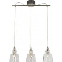Kattovalaisin Scan Lamps Figaro, 3-osainen, hopea/kirkas, Tammiston poistotuote