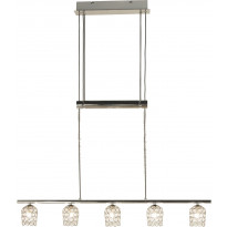 Kattovalaisin Scan Lamps Day, 5-osainen, kromi/kirkas, hissillä