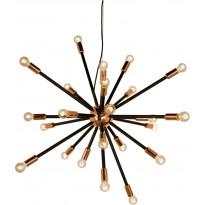 Kattovalaisin Scan Lamps Ray, 24-osainen, 90cm, musta/kupari, Tammiston poistotuote