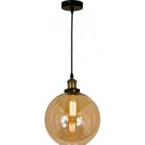 Kattovalaisin Scan Lamps Beatrice, ø 25cm, antikkimessinki/meripihka