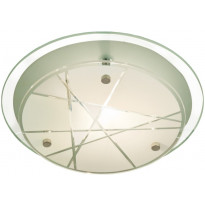 Plafondi Scan Lamps Linje 25, Ø 250x85 mm, valkoinen, harmaa