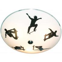 Plafondi Scan Lamps Skate,  Ø 400x400 valkoinen, musta