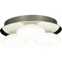 LED-kattoplafondi Scan Lamps Tomo 30, 3-osainen, kromi/valkoinen