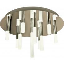 LED-kattoplafondi Scan Lamps Skyline, ø 40cm, 10x2W, 1400lm, kromi/valkoinen