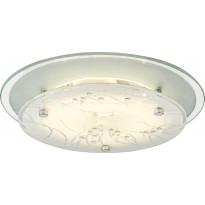 LED-kattoplafondi Scan Lamps Denise, ø 25cm, valkoinen/kromi